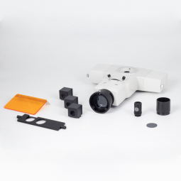 Epi-Fluorescence attachment with filter cassette for BA