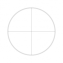 Reticle with crosshair (Ø25mm)