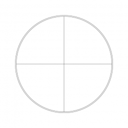 Reticle with 140 divisions in 14mm and crosshair (Ø23mm)