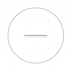 Reticle with 100 divisions in 10mm (Ø25mm)