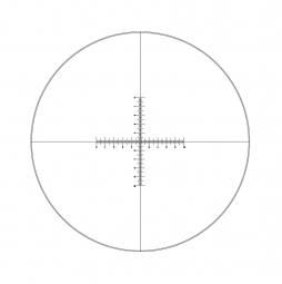 Reticle with crossed double scale 100 divisions in 10mm (Ø25mm)
