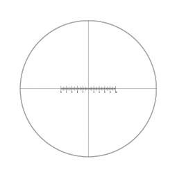Reticle with crossed double scale 100 divisions in 10mm and crosshair (Ø25mm)