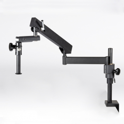 Articulating arm boom stand (table clamp), 600mm column