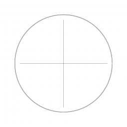 Reticle with crosshair (Ø19mm)