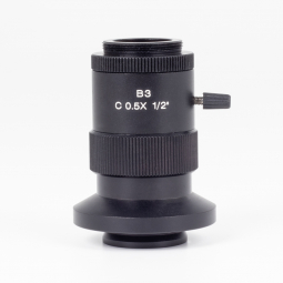 "0.5X C-mount camera adapter for 1/2"" chip sensors"