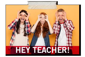 Hey teacher promo