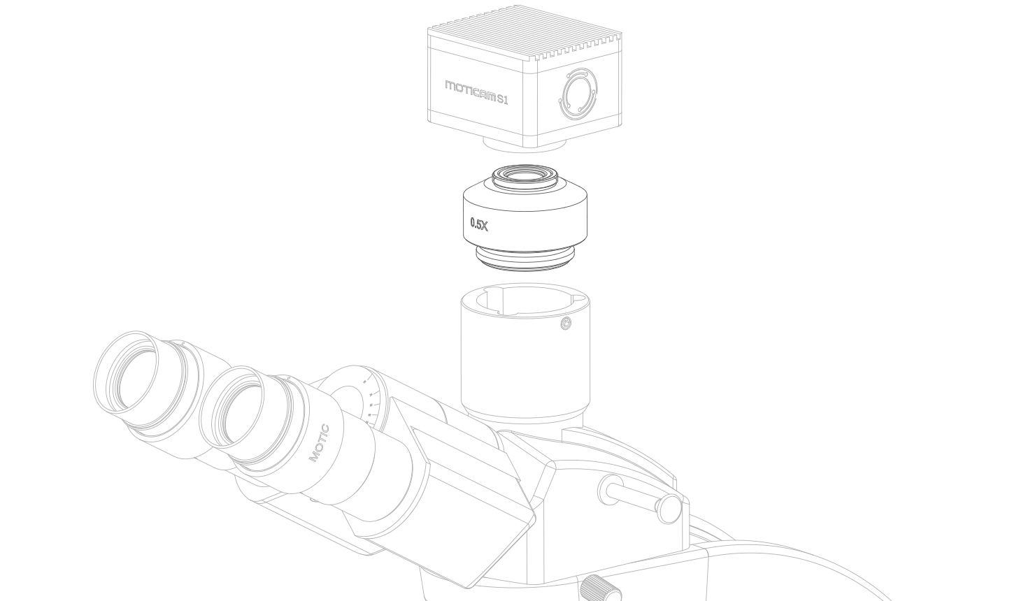 safety recommendations - c-mount adapter microscope drawing