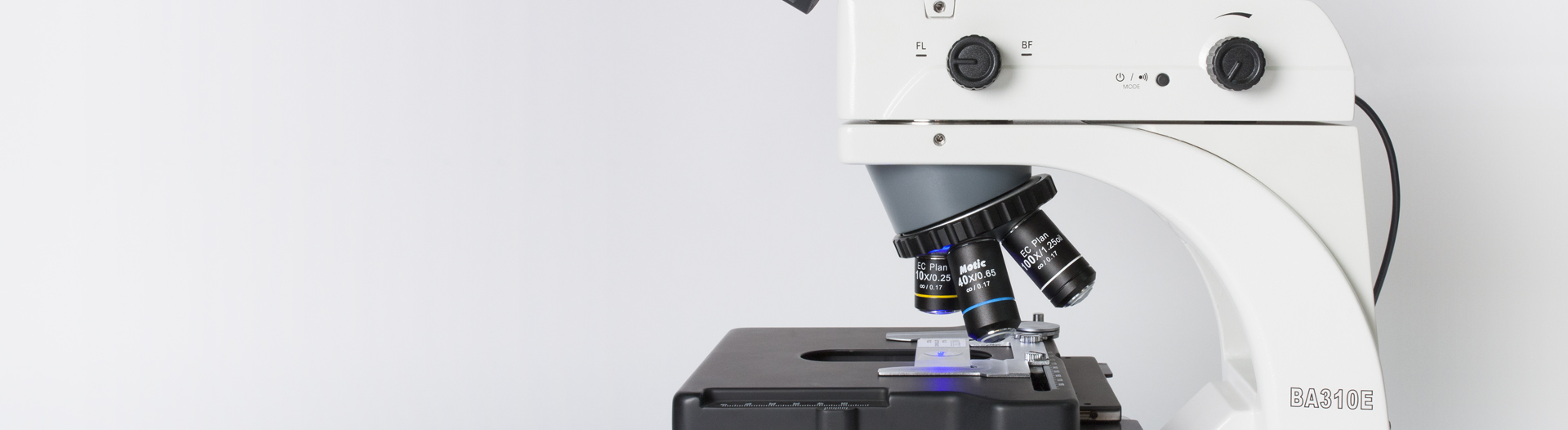BA310E microscope contrast methods fluorescence
