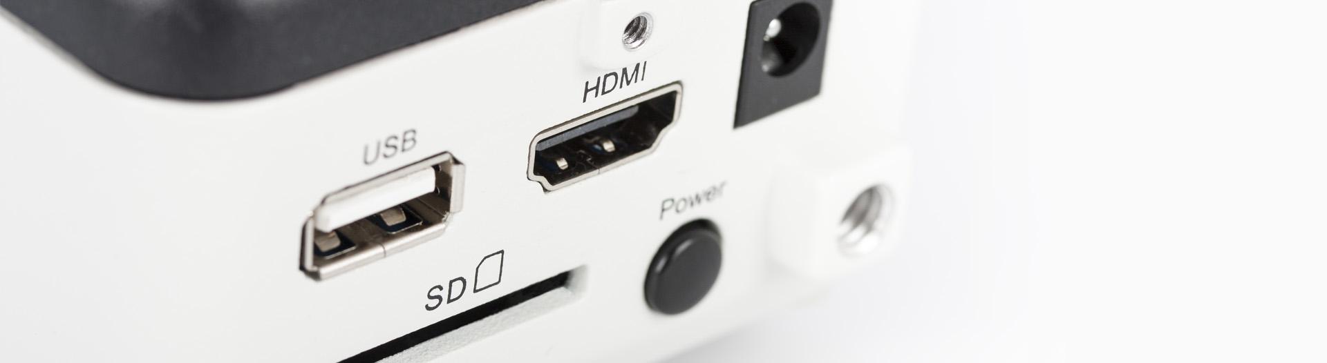 Moticam 1080 HD outputs